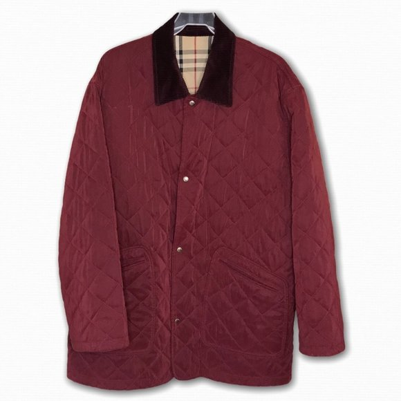 Burberry Diamond Quilted Barn Jacket, L